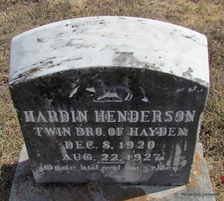HENDERSON, HARDIN (TWIN) - Faulkner County, Arkansas | HARDIN (TWIN) HENDERSON - Arkansas Gravestone Photos