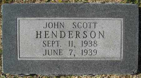 HENDERSON, JOHN SCOTT - Faulkner County, Arkansas | JOHN SCOTT HENDERSON - Arkansas Gravestone Photos