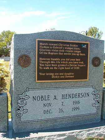 HENDERSON, NOBLE A - Faulkner County, Arkansas | NOBLE A HENDERSON - Arkansas Gravestone Photos
