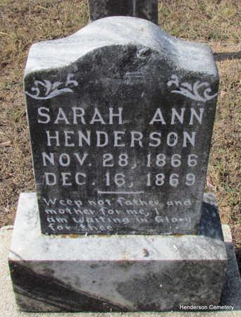 HENDERSON, SARAH ANN - Faulkner County, Arkansas | SARAH ANN HENDERSON - Arkansas Gravestone Photos