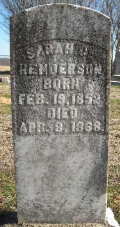 HENDERSON, SARAH C. - Faulkner County, Arkansas | SARAH C. HENDERSON - Arkansas Gravestone Photos