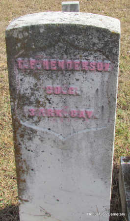 HENDERSON (VETERAN UNION), T. F. - Faulkner County, Arkansas | T. F. HENDERSON (VETERAN UNION) - Arkansas Gravestone Photos