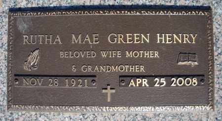 HENRY, RUTHA MAE (CLOSEUP) - Faulkner County, Arkansas | RUTHA MAE (CLOSEUP) HENRY - Arkansas Gravestone Photos