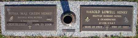 HENRY (VETERAN), HAROLD LOWELL - Faulkner County, Arkansas | HAROLD LOWELL HENRY (VETERAN) - Arkansas Gravestone Photos