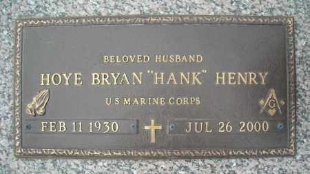 "HENRY (VETERAN), HOYE BRYAN ""HANK"" - Faulkner County, Arkansas | HOYE BRYAN ""HANK"" HENRY (VETERAN) - Arkansas Gravestone Photos"