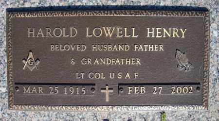 HENRY (VETERAN), HAROLD LOWELL (CLOSE UP) - Faulkner County, Arkansas | HAROLD LOWELL (CLOSE UP) HENRY (VETERAN) - Arkansas Gravestone Photos