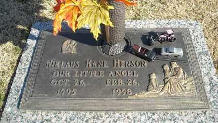 HENSON, NIKLAUS KANE - Faulkner County, Arkansas | NIKLAUS KANE HENSON - Arkansas Gravestone Photos