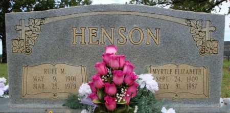 HENSON, MYRTLE ELIZABETH - Faulkner County, Arkansas | MYRTLE ELIZABETH HENSON - Arkansas Gravestone Photos