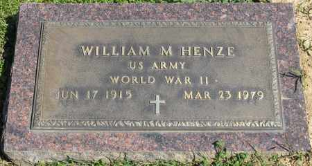 HENZE (VETERAN WWII), WILLIAM M. - Faulkner County, Arkansas | WILLIAM M. HENZE (VETERAN WWII) - Arkansas Gravestone Photos