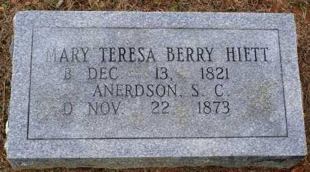 BERRY HIETT, MARY TERESA - Faulkner County, Arkansas | MARY TERESA BERRY HIETT - Arkansas Gravestone Photos