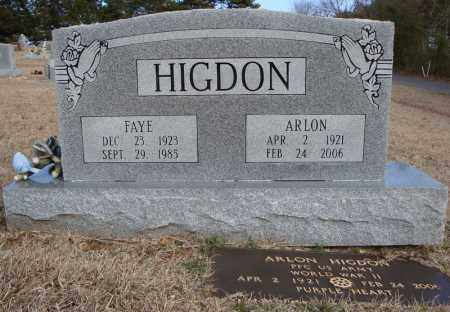 HIGDON, FAYE - Faulkner County, Arkansas | FAYE HIGDON - Arkansas Gravestone Photos