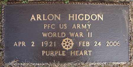 HIGDON (VETERAN WWII), ARLON - Faulkner County, Arkansas | ARLON HIGDON (VETERAN WWII) - Arkansas Gravestone Photos