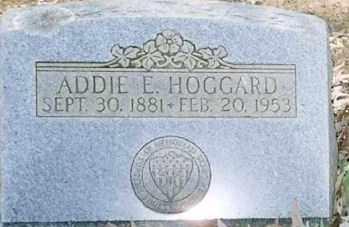 HOGGARD, ADDIE E - Faulkner County, Arkansas | ADDIE E HOGGARD - Arkansas Gravestone Photos