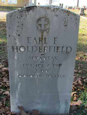 HOLDERFIELD (VETERAN), EARL F - Faulkner County, Arkansas | EARL F HOLDERFIELD (VETERAN) - Arkansas Gravestone Photos