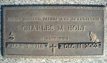 HOLT (VETERAN WWII), CHARLES M - Faulkner County, Arkansas | CHARLES M HOLT (VETERAN WWII) - Arkansas Gravestone Photos