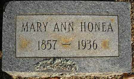 HONEA, MARY ANN - Faulkner County, Arkansas | MARY ANN HONEA - Arkansas Gravestone Photos