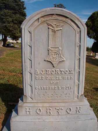 HORTON, A.J. - Faulkner County, Arkansas | A.J. HORTON - Arkansas Gravestone Photos