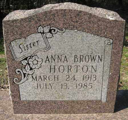 BROWN HORTON, ANNA - Faulkner County, Arkansas | ANNA BROWN HORTON - Arkansas Gravestone Photos