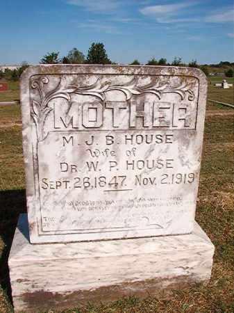HOUSE, MARY J B - Faulkner County, Arkansas | MARY J B HOUSE - Arkansas Gravestone Photos