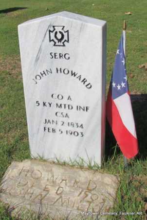 HOWARD  (VETERAN CSA), JOHN - Faulkner County, Arkansas | JOHN HOWARD  (VETERAN CSA) - Arkansas Gravestone Photos