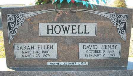 HOWELL, SARAH ELLEN - Faulkner County, Arkansas | SARAH ELLEN HOWELL - Arkansas Gravestone Photos