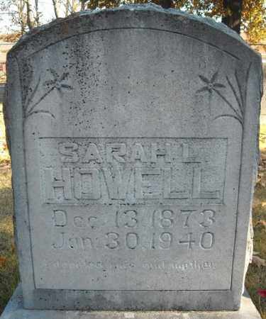 HOWELL, SARAH L. - Faulkner County, Arkansas | SARAH L. HOWELL - Arkansas Gravestone Photos