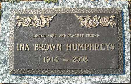 BROWN HUMPHREYS, INA - Faulkner County, Arkansas | INA BROWN HUMPHREYS - Arkansas Gravestone Photos