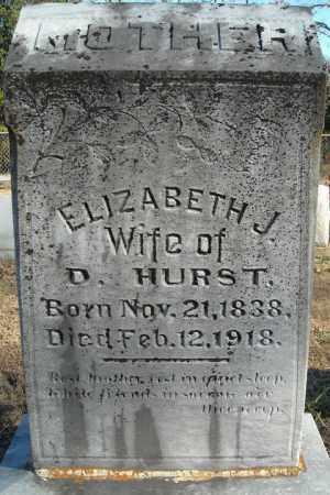 HURST, ELIZABETH J - Faulkner County, Arkansas | ELIZABETH J HURST - Arkansas Gravestone Photos