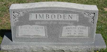 IMBODEN, ADOLPH CHRIS - Faulkner County, Arkansas | ADOLPH CHRIS IMBODEN - Arkansas Gravestone Photos