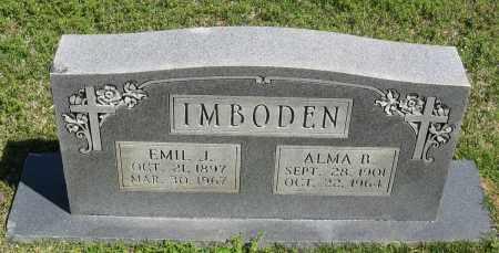 IMBODEN, ALMA B. - Faulkner County, Arkansas | ALMA B. IMBODEN - Arkansas Gravestone Photos