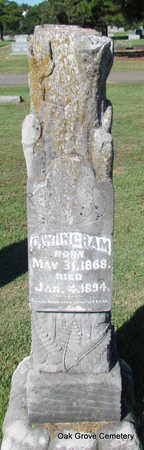 INGRAM, G.W. - Faulkner County, Arkansas | G.W. INGRAM - Arkansas Gravestone Photos