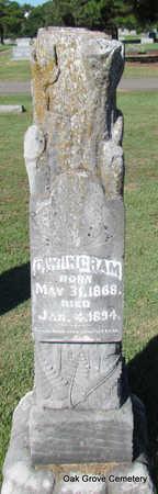 INGRAM, G.W. - Faulkner County, Arkansas | G.W. INGRAM - Arkansas Gravestone Photos