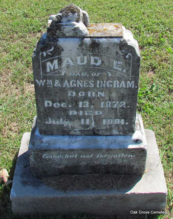 *INGRAM, MAUD E. (FIRST BURIAL) - Faulkner County, Arkansas | MAUD E. (FIRST BURIAL) *INGRAM - Arkansas Gravestone Photos