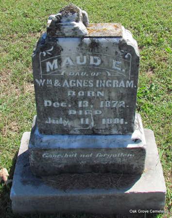 *INGRAM, MAUD E. (FIRST BURIAL) - Faulkner County, Arkansas | MAUD E. (FIRST BURIAL) *INGRAM - Arkansas Gravestone Photos