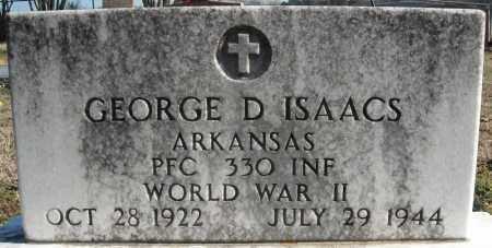 ISAACS (VETERAN WWII), GEORGE D. - Faulkner County, Arkansas | GEORGE D. ISAACS (VETERAN WWII) - Arkansas Gravestone Photos