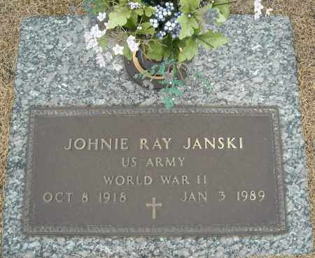 JANSKI (VETERAN WWII), JOHNIE RAY - Faulkner County, Arkansas | JOHNIE RAY JANSKI (VETERAN WWII) - Arkansas Gravestone Photos