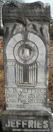 JEFFRIES, A.B. - Faulkner County, Arkansas | A.B. JEFFRIES - Arkansas Gravestone Photos