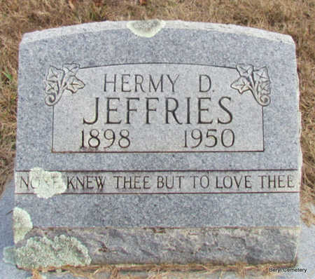 JEFFRIES, HERMY D - Faulkner County, Arkansas | HERMY D JEFFRIES - Arkansas Gravestone Photos