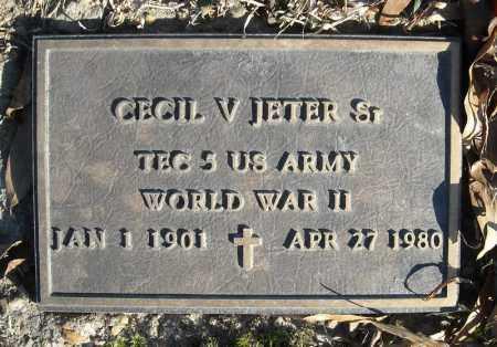 JETER, SR. (VETERAN WWII), CECIL V. - Faulkner County, Arkansas | CECIL V. JETER, SR. (VETERAN WWII) - Arkansas Gravestone Photos