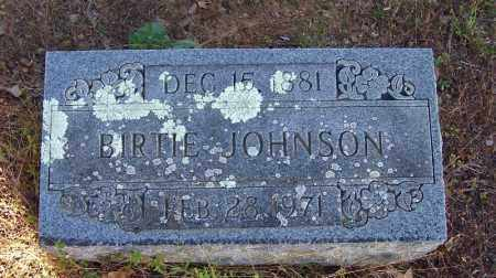 JOHNSON, BIRTIE - Faulkner County, Arkansas | BIRTIE JOHNSON - Arkansas Gravestone Photos