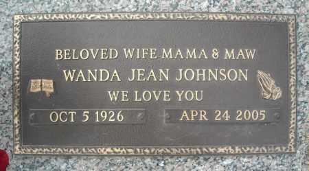 JOHNSON, WANDA JEAN (CLOSE UP) - Faulkner County, Arkansas | WANDA JEAN (CLOSE UP) JOHNSON - Arkansas Gravestone Photos