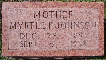 JOHNSON, MYRTLE F. - Faulkner County, Arkansas | MYRTLE F. JOHNSON - Arkansas Gravestone Photos