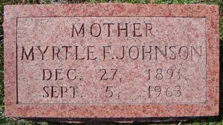 JOHNSON, MYRTLE FLORA - Faulkner County, Arkansas   MYRTLE FLORA JOHNSON - Arkansas Gravestone Photos