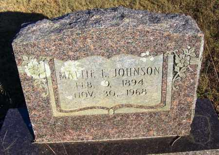 JOHNSON, MATTIE E. - Faulkner County, Arkansas | MATTIE E. JOHNSON - Arkansas Gravestone Photos
