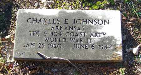 JOHNSON (VETERAN WWII), CHARLES E - Faulkner County, Arkansas | CHARLES E JOHNSON (VETERAN WWII) - Arkansas Gravestone Photos