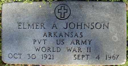 JOHNSON (VETERAN WWII), ELMER A - Faulkner County, Arkansas | ELMER A JOHNSON (VETERAN WWII) - Arkansas Gravestone Photos