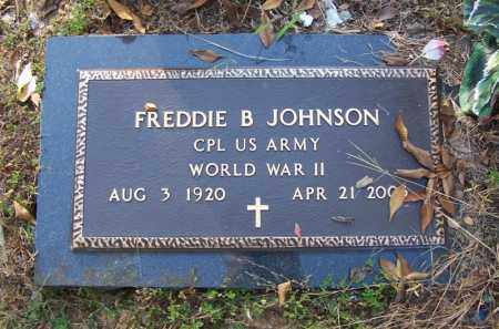 JOHNSON (VETERAN WWII), FREDDIE B - Faulkner County, Arkansas | FREDDIE B JOHNSON (VETERAN WWII) - Arkansas Gravestone Photos