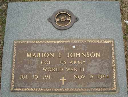JOHNSON (VETERAN WWII), MARION E - Faulkner County, Arkansas | MARION E JOHNSON (VETERAN WWII) - Arkansas Gravestone Photos