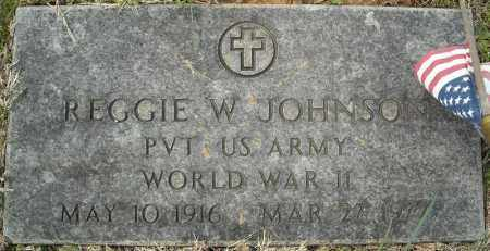 JOHNSON (VETERAN WWII), REGGIE W - Faulkner County, Arkansas | REGGIE W JOHNSON (VETERAN WWII) - Arkansas Gravestone Photos