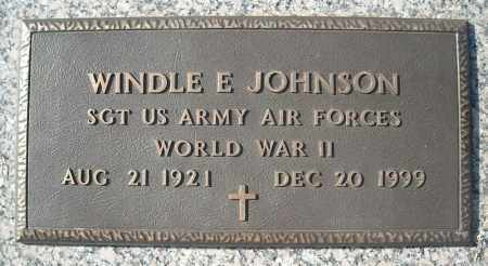 JOHNSON (VETERAN WWII), WINDLE E - Faulkner County, Arkansas | WINDLE E JOHNSON (VETERAN WWII) - Arkansas Gravestone Photos